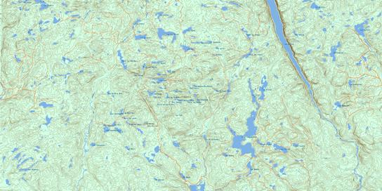 Grand Lac Jourdain Topo Map 032H16 at 1:50,000 scale - National Topographic System of Canada (NTS) - Toporama map