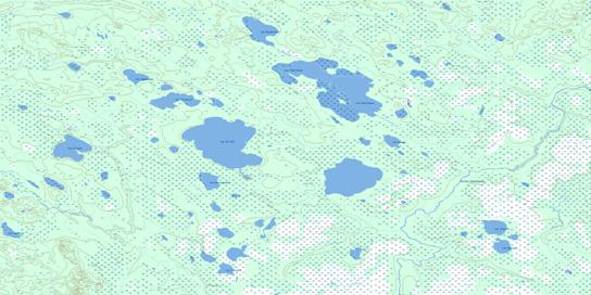 Lac Paul-Sauve Topo Map 032L01 at 1:50,000 scale - National Topographic System of Canada (NTS) - Toporama map