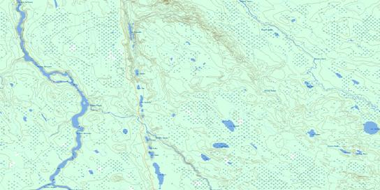 Riviere Rouget Topo Map 032L02 at 1:50,000 scale - National Topographic System of Canada (NTS) - Toporama map