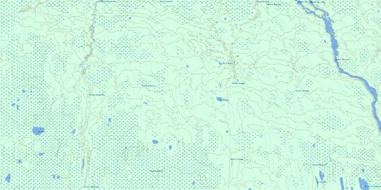 Lac Gette Topo Map 032L06 at 1:50,000 scale - National Topographic System of Canada (NTS) - Toporama map