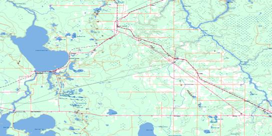 Porquis Junction Topo Map 042A10 at 1:50,000 scale - National Topographic System of Canada (NTS) - Toporama map