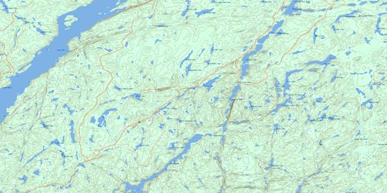 Spider Lake Topo Map 042E07 at 1:50,000 scale - National Topographic System of Canada (NTS) - Toporama map