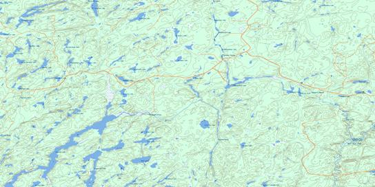 Kagiano Lake Topo Map 042E08 at 1:50,000 scale - National Topographic System of Canada (NTS) - Toporama map