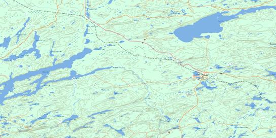 Pagwachuan Lake Topo Map 042E09 at 1:50,000 scale - National Topographic System of Canada (NTS) - Toporama map