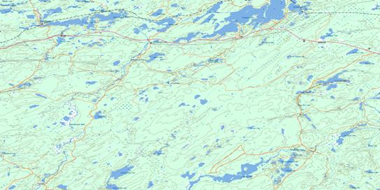 Wildgoose Lake Topo Map 042E11 at 1:50,000 scale - National Topographic System of Canada (NTS) - Toporama map