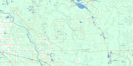 Abitibi Topo Map 042H02 at 1:50,000 scale - National Topographic System of Canada (NTS) - Toporama map