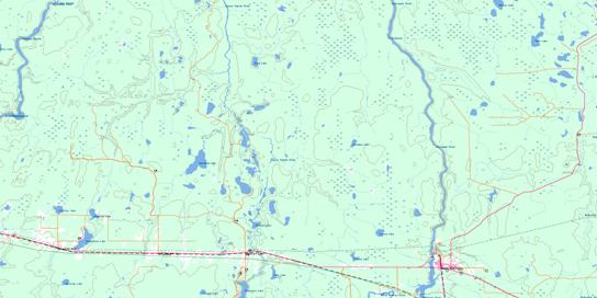 Smooth Rock Falls Topo Map 042H05 at 1:50,000 scale - National Topographic System of Canada (NTS) - Toporama map