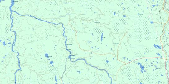 Abimatinu River Topo Map 042H12 at 1:50,000 scale - National Topographic System of Canada (NTS) - Toporama map