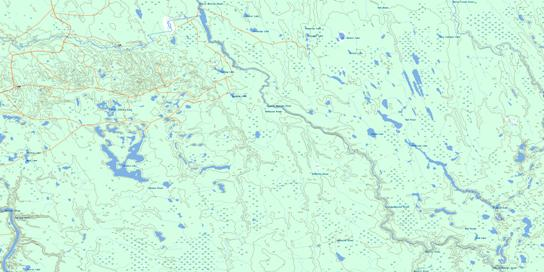 Takwata Lake Topo Map 042H14 at 1:50,000 scale - National Topographic System of Canada (NTS) - Toporama map