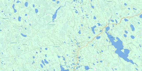 Lawagamau Lake Topo Map 042H16 at 1:50,000 scale - National Topographic System of Canada (NTS) - Toporama map
