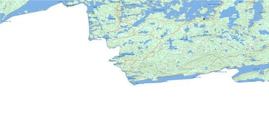 Saganaga Lake Topo Map 052B02 at 1:50,000 scale - National Topographic System of Canada (NTS) - Toporama map