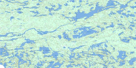 Poohbah Lake Topographic map 052B05 at 1:50,000 Scale