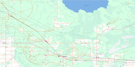 Sprague Topo Map 052E04 at 1:50,000 scale - National Topographic System of Canada (NTS) - Toporama map