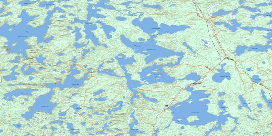 Wabaskang Lake Topo Map 052K06 at 1:50,000 scale - National Topographic System of Canada (NTS) - Toporama map