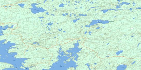 Aerofoil Lake Topo Map 052K10 at 1:50,000 scale - National Topographic System of Canada (NTS) - Toporama map