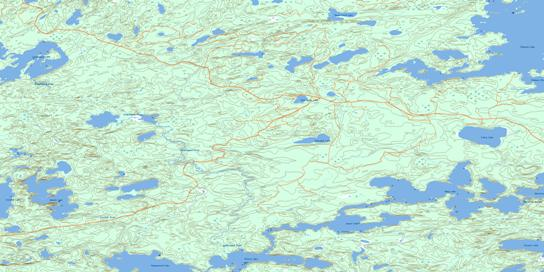 Wegg Lake Topo Map 052K12 at 1:50,000 scale - National Topographic System of Canada (NTS) - Toporama map