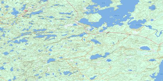 Madsen Topo Map 052K13 at 1:50,000 scale - National Topographic System of Canada (NTS) - Toporama map