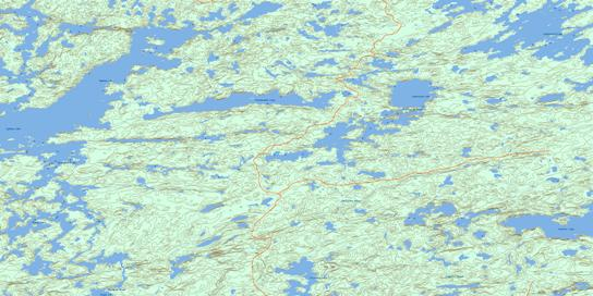 Sydney Lake Topo Map 052L09 at 1:50,000 scale - National Topographic System of Canada (NTS) - Toporama map