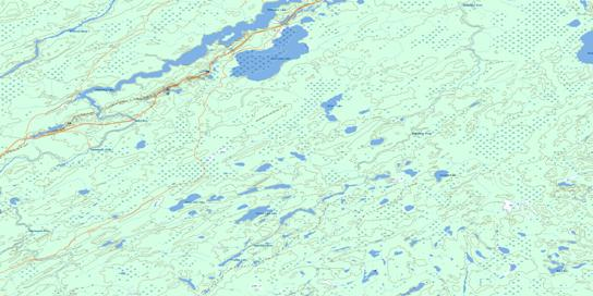 Collishaw Lake Topo Map 052P12 at 1:50,000 scale - National Topographic System of Canada (NTS) - Toporama map