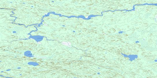 Varveclay Lake Topo Map 053E01 at 1:50,000 scale - National Topographic System of Canada (NTS) - Toporama map