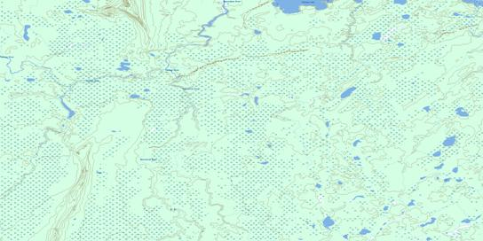 Rottenfish River Topo Map 053F09 at 1:50,000 scale - National Topographic System of Canada (NTS) - Toporama map