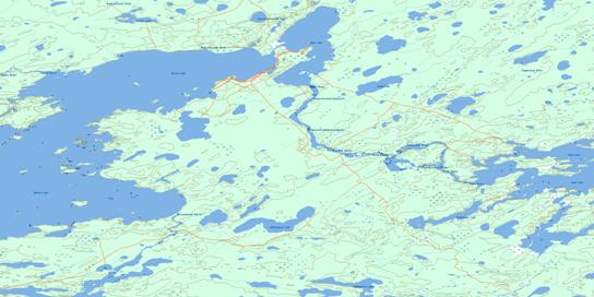 Oxford House Topographic map 053L14 at 1:50,000 Scale