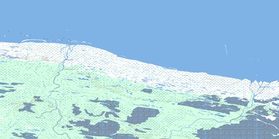 Milk Creek Topo Map 054A14 at 1:50,000 scale - National Topographic System of Canada (NTS) - Toporama map