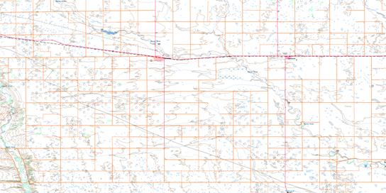 Carnduff Topo Map 062F04 at 1:50,000 scale - National Topographic System of Canada (NTS) - Toporama map