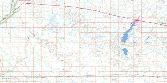 Shoal Lake Topo Map 062K07 at 1:50,000 scale - National Topographic System of Canada (NTS) - Toporama map