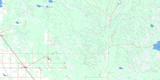 Moosehorn Topo Map 062O08 at 1:50,000 scale - National Topographic System of Canada (NTS) - Toporama map