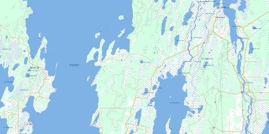 Skownan Topo Map 062O13 at 1:50,000 scale - National Topographic System of Canada (NTS) - Toporama map