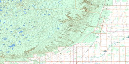 Birch River Topo Map 063C06 at 1:50,000 scale - National Topographic System of Canada (NTS) - Toporama map
