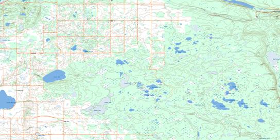 Klogei Lake Topo Map 063D06 at 1:50,000 scale - National Topographic System of Canada (NTS) - Toporama map