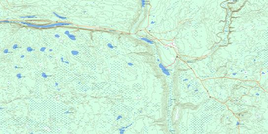 Mcbride Lake Topo Map 063D08 at 1:50,000 scale - National Topographic System of Canada (NTS) - Toporama map