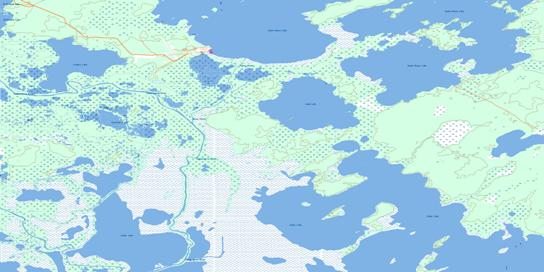 Lamb Lake Topo Map 063F09 at 1:50,000 scale - National Topographic System of Canada (NTS) - Toporama map