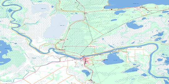 The Pas Topo Map 063F14 at 1:50,000 scale - National Topographic System of Canada (NTS) - Toporama map