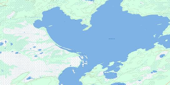 Burntwood Bay Topo Map 063K01 at 1:50,000 scale - National Topographic System of Canada (NTS) - Toporama map
