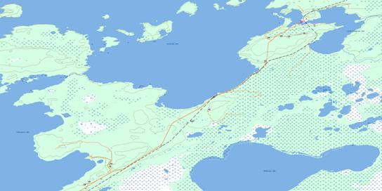 Cormorant Topo Map 063K02 at 1:50,000 scale - National Topographic System of Canada (NTS) - Toporama map