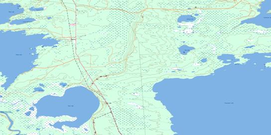Root Lake Topo Map 063K03 at 1:50,000 scale - National Topographic System of Canada (NTS) - Toporama map