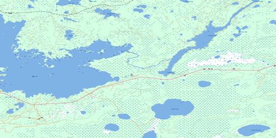 Tramping Lake Topo Map 063K09 at 1:50,000 scale - National Topographic System of Canada (NTS) - Toporama map