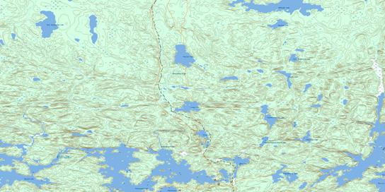 Llama Lake Topo Map 063N14 at 1:50,000 scale - National Topographic System of Canada (NTS) - Toporama map