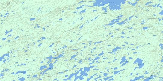 Hugill Creek Topo Map 064N07 at 1:50,000 scale - National Topographic System of Canada (NTS) - Toporama map