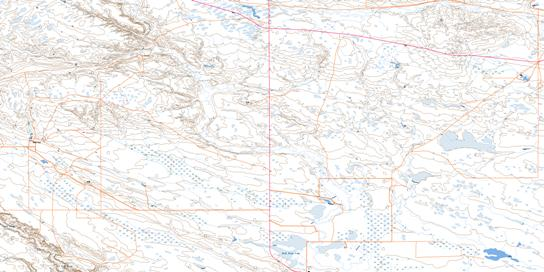 Cripple Creek Topo Map 072E01 at 1:50,000 scale - National Topographic System of Canada (NTS) - Toporama map