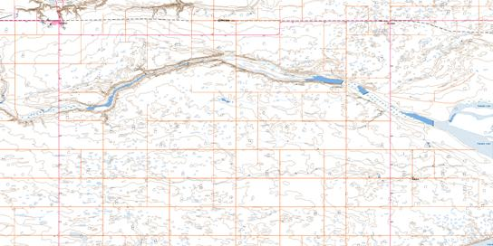 Foremost Topo Map 072E06 at 1:50,000 scale - National Topographic System of Canada (NTS) - Toporama map