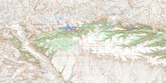 Elkwater Lake Topo Map 072E09 at 1:50,000 scale - National Topographic System of Canada (NTS) - Toporama map