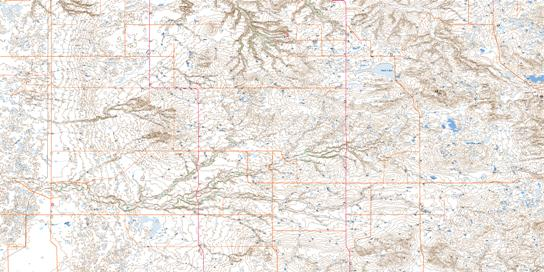 Bulls Head Topo Map 072E10 at 1:50,000 scale - National Topographic System of Canada (NTS) - Toporama map
