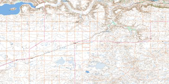 Ravenscrag Topo Map 072F06 at 1:50,000 scale - National Topographic System of Canada (NTS) - Toporama map