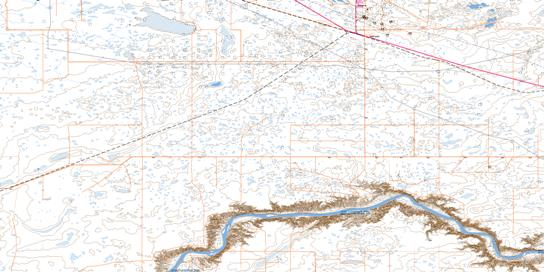 Suffield Topo Map 072L03 at 1:50,000 scale - National Topographic System of Canada (NTS) - Toporama map