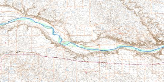 Buffalo Topo Map 072L15 at 1:50,000 scale - National Topographic System of Canada (NTS) - Toporama map