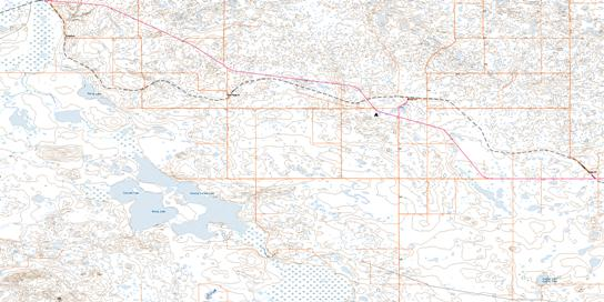 Grassy Island Lake Topo Map 072M16 at 1:50,000 scale - National Topographic System of Canada (NTS) - Toporama map